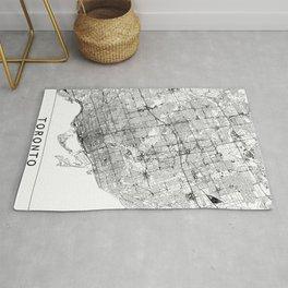 Toronto White Map Rug