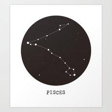 Pisces Star Constellation Art Print