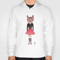 kitty Hoodies featuring Kitty by BTP Designs