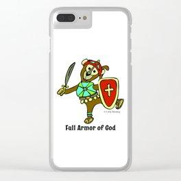 © Litte Monkey wears Full Armor of God Clear iPhone Case