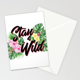 Stay Wild Inspirational Quote Stationery Cards