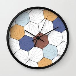 Mara (Wood & blue) Wall Clock