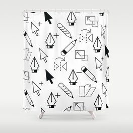 Illustrator Tools Shower Curtain