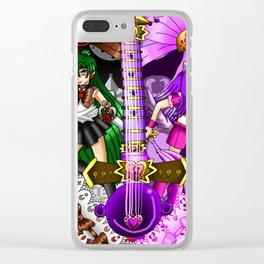 Sailor Mew Guitar #68 - Sailor Pluto & Mew Zakuro Clear iPhone Case