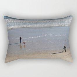 Family On The Beach Rectangular Pillow