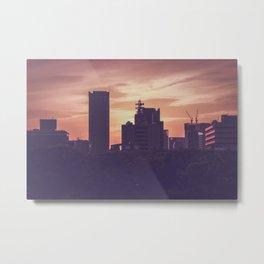 Osaka Sunset Metal Print