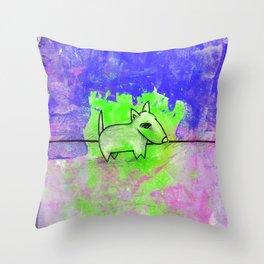 Dog No.1d by Kathy Morton Stanion Throw Pillow