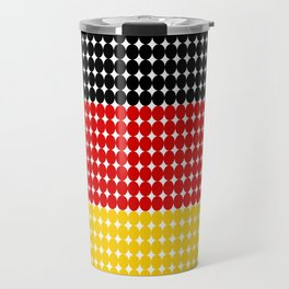 Abstract dotted flag of Germany made from small dots and circles. Travel Mug