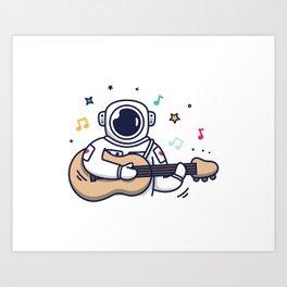 Musical Astronaut Art Print