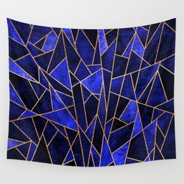 Shattered Sapphire Wall Tapestry