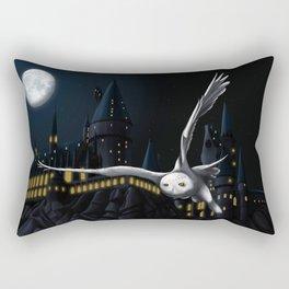 Hedwig's flight at Night Rectangular Pillow