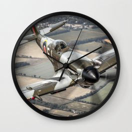 Vickers Armstrong Spitfire FR XIV Wall Clock