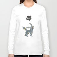 umbreon Long Sleeve T-shirts featuring Evolution: Dark by David Flamm