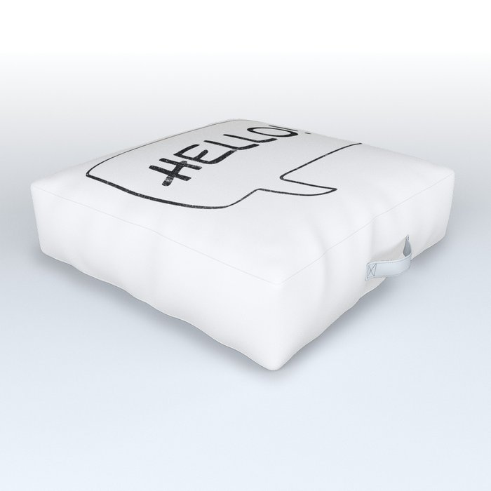 Hello! [Speach Bubble] Outdoor Floor Cushion