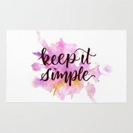 Keep It Simple Rug