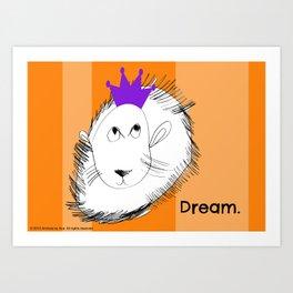 The Lion Dreams Big - Art by a Child Art Print