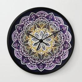 Glowing Mandala Wall Clock