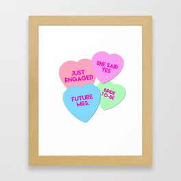 Bride Candy Hearts Valentine Framed Art Print