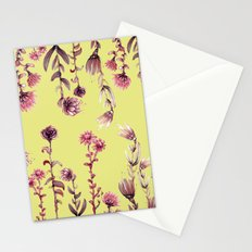 yellow back, pink nature Stationery Cards