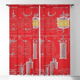 O. & O. B. Zwietusch Beer Brewing Making Patent No. 2 Red Variation Vintage Poster Blackout Curtain