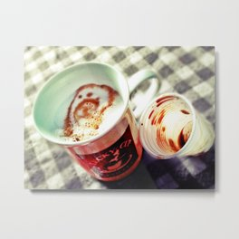 CAPPUCCINO MON AMOUR Metal Print