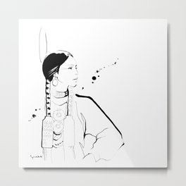 Ethnic Beauty - USA Metal Print