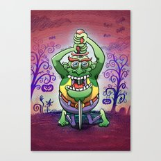 The Awkwardness of the Sword Swallower Canvas Print
