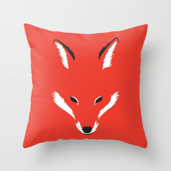Foxy Shape Throw Pillow by Robert Farkas Society6