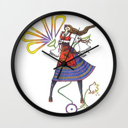 Folk Dancer Wall Clock