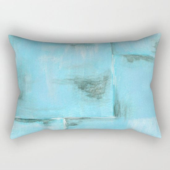 Frost, Abstract Art Painting Rectangular Pillow