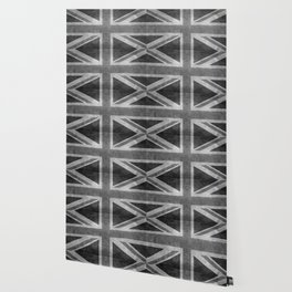 Union Jack Vintage 3:5 Version in grayscale Wallpaper