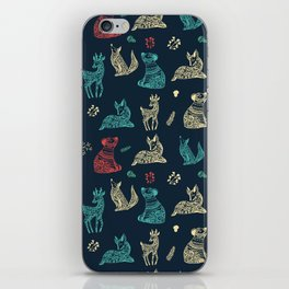 Cute Whimsical Forest Animals Pattern iPhone Skin