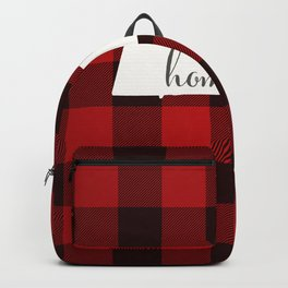 Massachusetts is Home - Buffalo Check Plaid Backpack