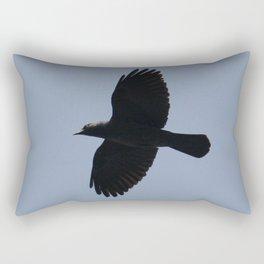 Jackdaw In Flight Rectangular Pillow
