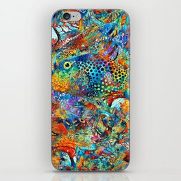 Tropical Beach Art - Under The Sea - Sharon Cummings iPhone Skin