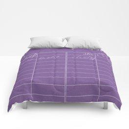 Library Card 797 Negative Purple Comforters