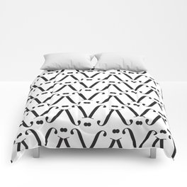 """Patterned - The Didot """"j"""" Project Comforters"""