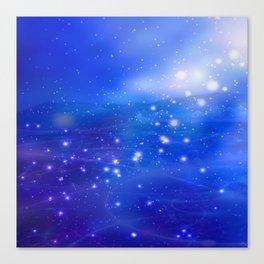 Cosmic Peace (blue) Canvas Print