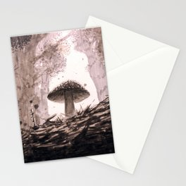 Mushroom in Forest Stationery Cards