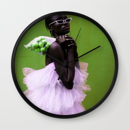 woman work Wall Clock