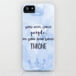 WIN YOUR PEOPLE iPhone Case