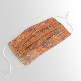 Oriental Vitange Moroccan Rug Design Face Mask