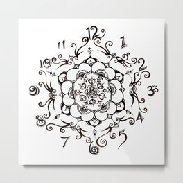 Twirly Time Metal Print
