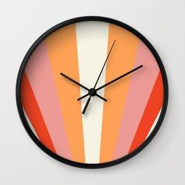 Geometric Landscape | Sunrise Sunset Sun Print Printed Wall Art Large Poster Home Decor Poster 24x36 Wall Clock