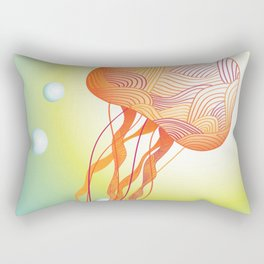 Tertiary Jellyfish Rectangular Pillow
