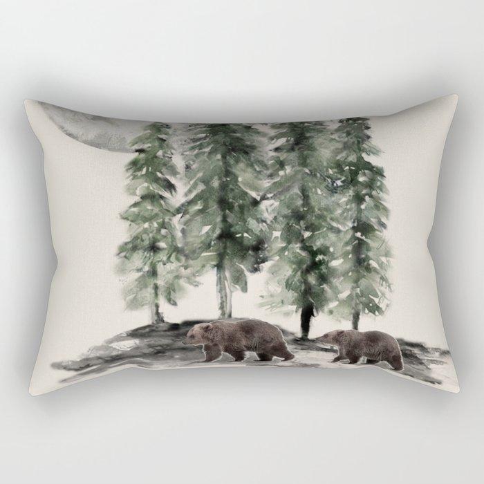 Full Moon Rising Rectangular Pillow