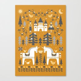 Yellow + Gray Fairy Tale Canvas Print