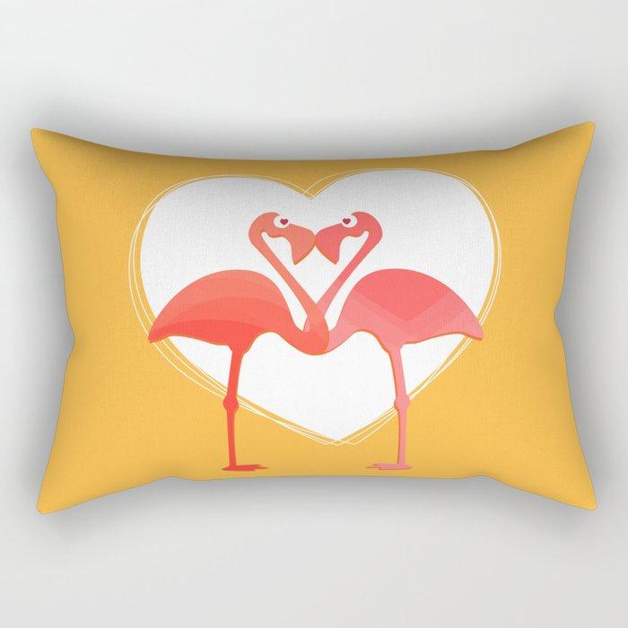 lovebirds - flamingos in love Rectangular Pillow