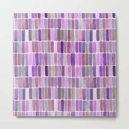 Watercolor Pink & Purple Swatches Metal Print