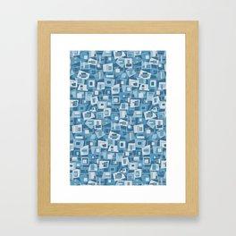 Interlocking Blues Framed Art Print